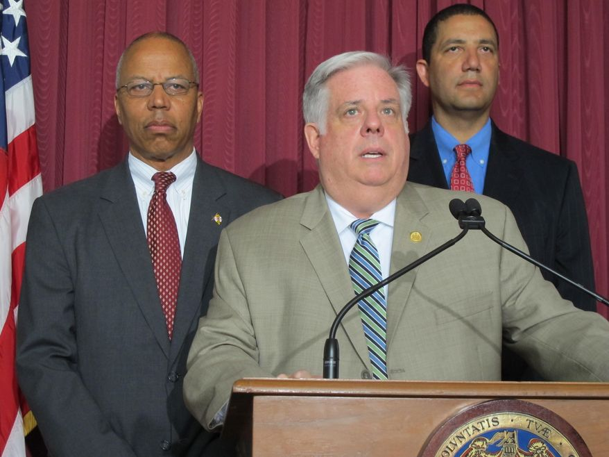 Maryland Gov. Larry Hogan supports an independent panel to redraw the state's congressional districts.  (AP Photo/File)