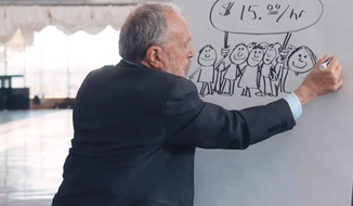"Former U.S. Labor Secretary Robert Reich and MoveOn.org Civic Action launched a series of web videos in an interactive online campaign to test out ideas from the liberal agenda, starting with videos promoting a $15 minimum ""living wage"" and other laws to help working families."