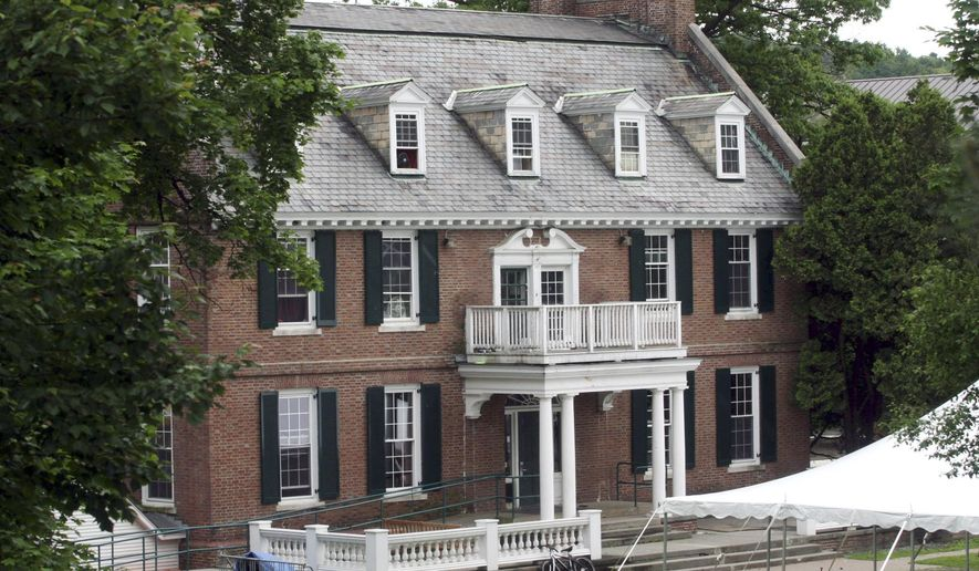 "FILE - This June 9, 2006 file photo shows the Alpha Delta fraternity at Dartmouth College in Hanover, N.H.  The college has rejected an appeal by a fraternity accused of branding new members, ending efforts by the Greek organization that partly inspired the 1976 movie ""Animal House"" to remain recognized on campus. Alpha Delta appealed last month after a campus judiciary committee at the Ivy League school withdrew the fraternity's recognition as a student organization. That appeal has been denied and the decision to withdraw recognition stands, according to a statement the college provided to The Associated Press on Friday, May 8, 2015.  (AP Photo/Larry Crowe, File)"