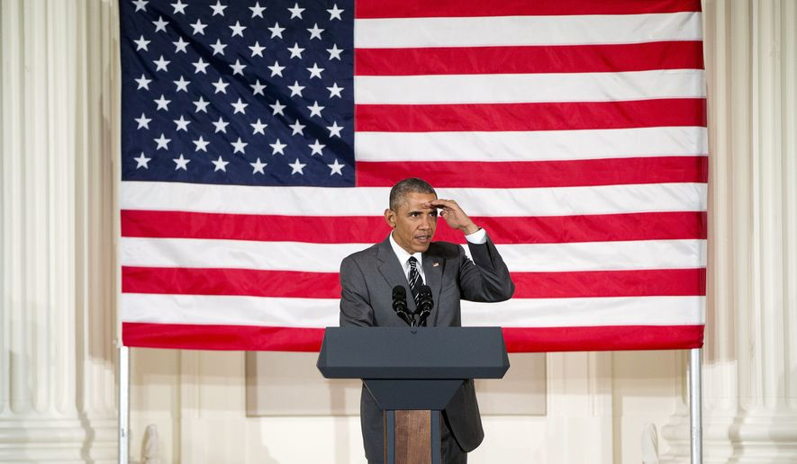 President Barack Obama speaks at a Democratic fundraiser at Sentinel Hotel, Thursday, May 7, 2015, in Portland, Ore. On Friday, the president will visit Nike headquarters in Beaverton, Ore. (AP Photo/Pablo Martinez Monsivais)