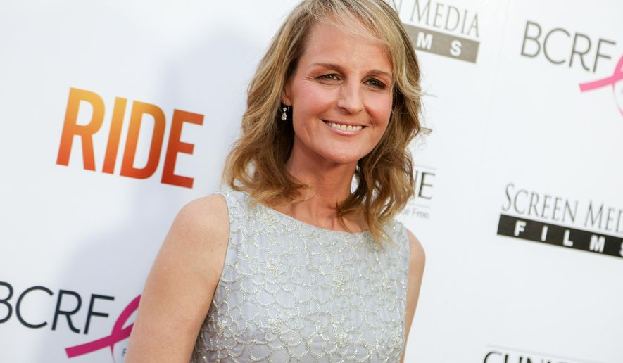 "FILE - In this Tuesday, April 28, 2015 file photo, Helen Hunt arrives at the LA Premiere of ""Ride"" at The Arclight Hollywood Theater in Los Angeles. Hunt wrote, directed and stars in the new movie now playing in limited release and available on VOD.  (Photo by Rich Fury/Invision/AP, File)"