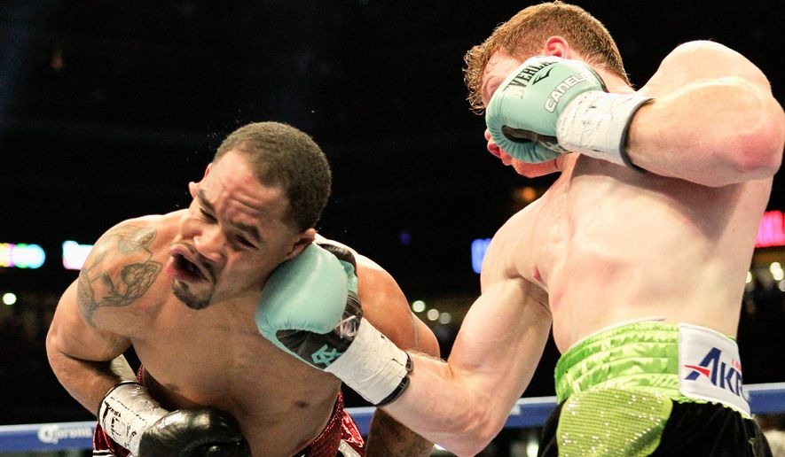 Following last week's Pacquiao-Mayweather debacle, HBO gave boxing fans a real, action-packed fight Saturday night between Canelo Alvarez (right) and James Kirkland. (Associated Press)
