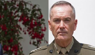 One challenge that Marine Gen. Joseph Dunford will face this fall as the new Joint Chiefs of Staff chairman will be the social changes sweeping the armed forces. (Associated Press) ** FILE **