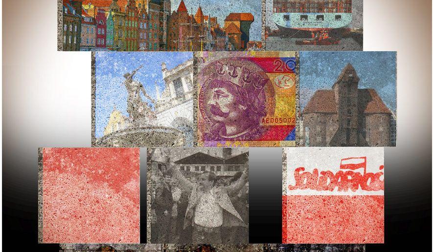 Illustration on the renewal of Gdansk, Poland by Alexander Hunter/The Washington Times