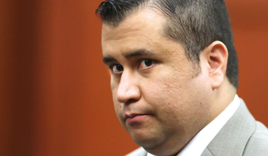 In this July 9, 2013, file photo, George Zimmerman leaves the courtroom for a lunch break his trial in Seminole Circuit Court, in Sanford, Fla. Police officers in Florida say Zimmerman has been involved in a shooting, Monday, May 11, 2015. Zimmerman was acquitted in 2013 of fatally shooting Trayvon Martin, an unarmed black teenager, in a case that sparked protests and national debate about race relations. (Joe Burbank/Orlando Sentinel via AP, Pool, File)