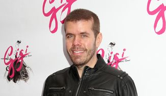 """In this April 8, 2015, file photo, Perez Hilton attends the Broadway opening night of """"Gigi"""" at the Neil Simon Theatre in New York. (Photo by Greg Allen/Invision/AP, File)"""