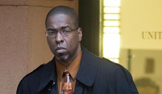 Former CIA officer Jeffrey Sterling leaves federal court in Alexandria, Va., in this Jan. 26, 2015, file photo. (AP Photo/Kevin Wolf, File)