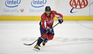 Alex Ovechkin's declaration that the Capitals would win Game 7 comes after the forward has been held scoreless in the past four games. (Associated Press)