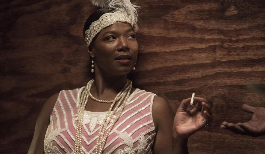 "In this image released by HBO, Queen Latifah portrays Bessie Smith in a scene from ""Bessie,"" premiering May 16, on HBO. (Frank Masi/HBO via AP)"