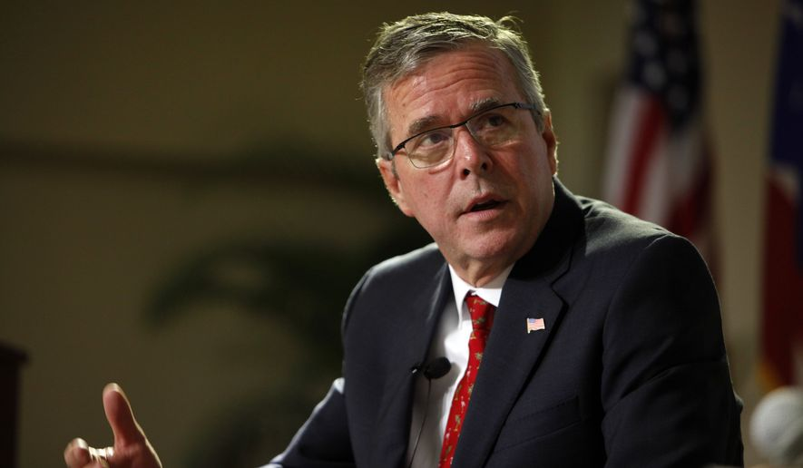 "Quinnipiac University released a poll last week that showed 25 percent of the likely GOP caucusgoers in Iowa said that they ""would definitely not support"" Jeb Bush for president. (Associated Press)"