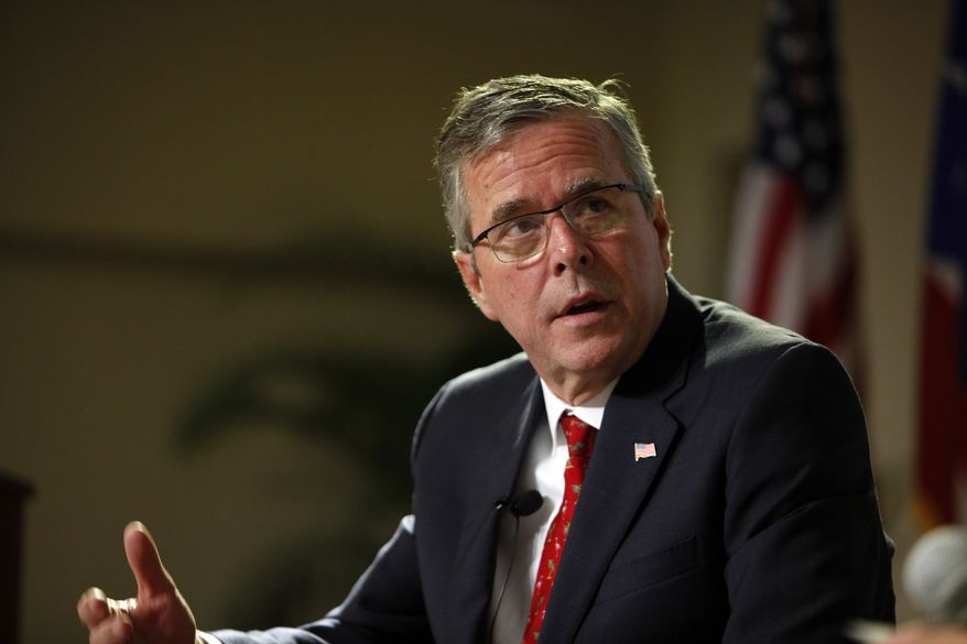 """Quinnipiac University released a poll last week that showed 25 percent of the likely GOP caucusgoers in Iowa said that they """"would definitely not support"""" Jeb Bush for president. (Associated Press)"""