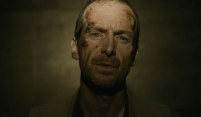 Actor Denis O'Hare plays a feisty archeologist trapped in The Pyramid, now on Blu-ray.
