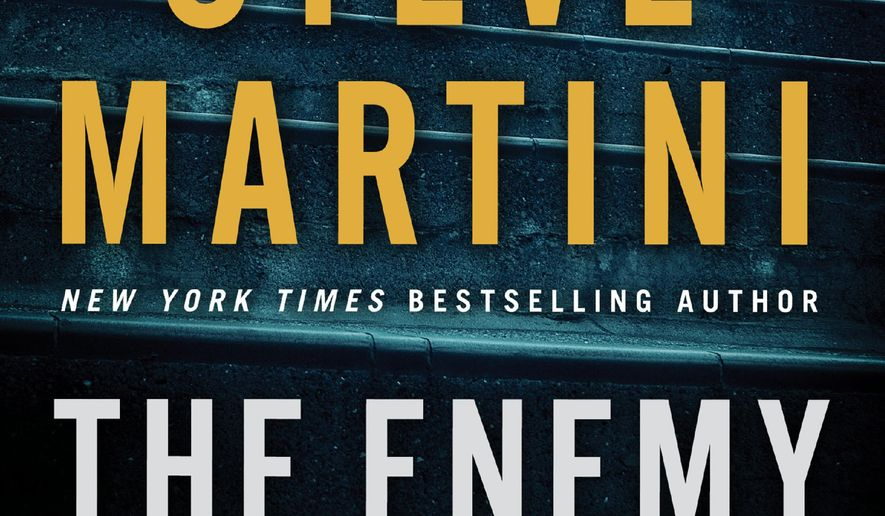 "This book cover image released by William Morrow shows ""The Enemy Inside,"" by Steve Martini. (William Morrow via AP)"