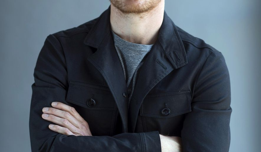 "In this April 30, 2015 photo, German-Irish actor Michael Fassbender poses for a portrait to promote his film, ""Slow West"" in New York. (Photo by Scott Gries/Invision/AP)"