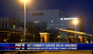 A veteran drove to the Phoenix VA headquarters and shot himself in the parking lot Sunday night in what police are calling a suicide. (KSAZ)
