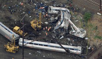Federal investigators are working to determine why an Amtrak train sped up unsafely and jumped the tracks in a Philadelphia neighborhood Tuesday, killing seven and injuring dozens more. (Associated Press)