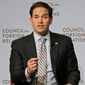 Republican presidential hopeful Sen. Marco Rubio of Florida is calling for increasing military spending and for the U.S. to aggressively confront Russia, China and others that he says threaten the nation's economic interests. (Associated Press)