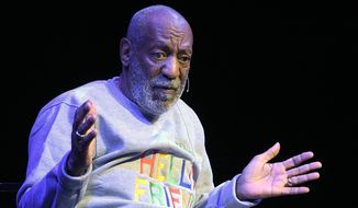 FILE - In this Friday, Nov. 21, 2014, file photo, Bill Cosby performs during a show at the Maxwell C. King Center for the Performing Arts in Melbourne, Fla. (AP Photo/Phelan M. Ebenhack, File) **FILE**