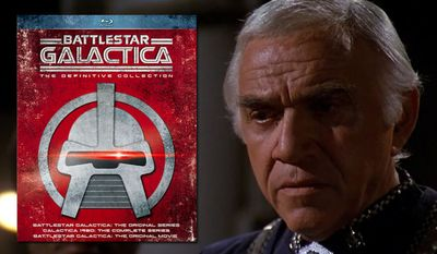 Lorne Greene stars in Battlestar Galactica: The Definitive Collection, now available on Blu-ray. (Courtesy Universal Studios Home Entertainment)