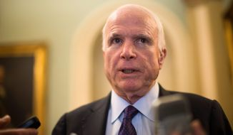 Sen. John McCain, Arizona Republican and chairman of the Senate Armed Services Committee. (Associated Press) ** FILE **