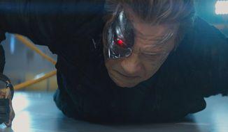 "Arnold Schwarzenegger returns in ""Terminator: Genisys,"" in theaters July 1. (Paramount)"