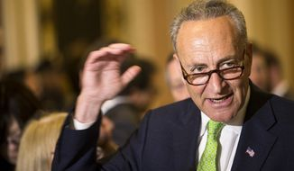 Sen. Charles E. Schumer, New York Democrat, has battled the Obama White House and previous administrations, begging them to punish China, which the senator said has manipulated the value of the yuan to help bolster its exports. (Associated Press)
