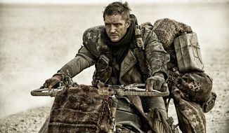 """Tom Hardy in a scene from """"Mad Max: Fury Road."""" (Jasin Boland/Warner Bros. Pictures via AP)"""