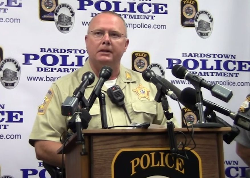"""Nelson County Sheriff Ed Mattingly said Monday that he's """"glad"""" a suspect shot by a deputy on Sunday is white so that the department doesn't face racial backlash. (YouTube/Nelson County Gazette)"""