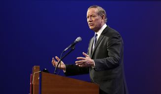 Former New York Gov. George Pataki speaks during the Iowa Republican Party's Lincoln Dinner, Saturday, May 16, 2015, in Des Moines, Iowa. (AP Photo/Charlie Neibergall)