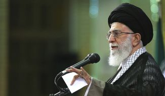 Iran's supreme leader Ayatollah Ali Khamenei. (Associated Press) ** FILE **
