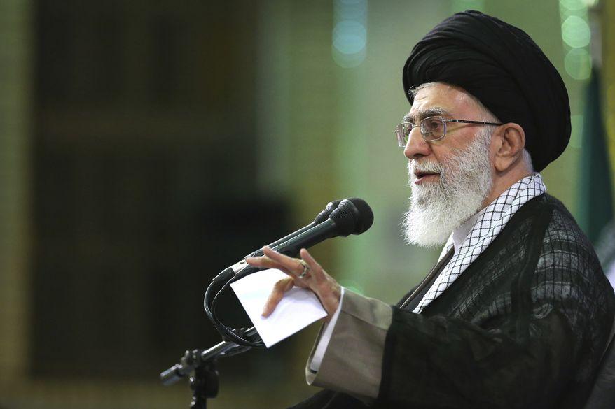 Iran's supreme leader Ayatollah Ali Khamenei. (Associated Press) ** FILE **