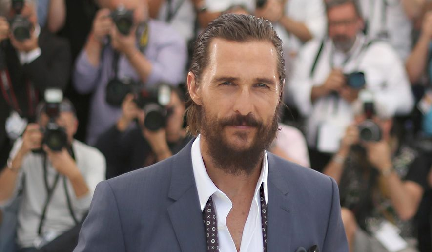 Matthew McConaughey poses for photographers at the photo call of the film The Sea of Trees, at the 68th international film festival, Cannes, southern France, Saturday, May 16, 2015. (Photo by Joel Ryan/Invision/AP)
