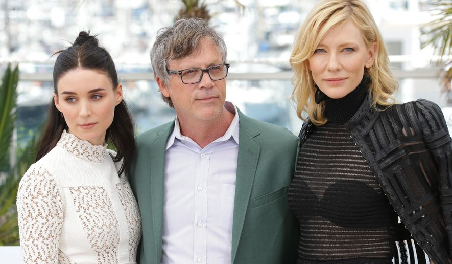 From left, Rooney Mara, director Todd Haynes and Cate Blanchett pose for photographers at the photo call for the film Carol, at the 68th international film festival, Cannes, southern France, Sunday, May 17, 2015. (Photo by Joel Ryan/Invision/AP)