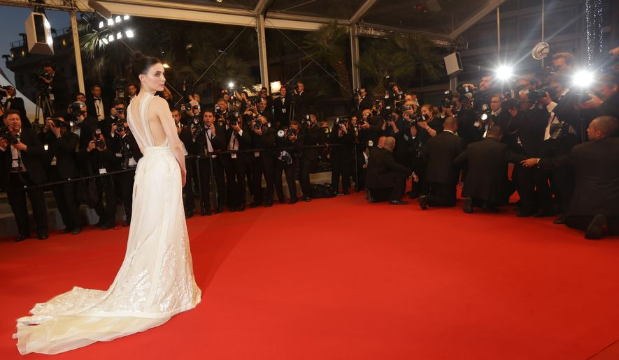 Rooney Mara departs following the screening of the film Carol at the 68th international film festival, Cannes, southern France, Sunday, May 17, 2015. (Photo by Joel Ryan/Invision/AP)