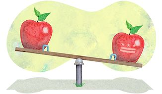 Better funding for D.C. traditional schools illustration by Greg Groesch/The Washington Times