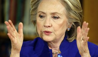"""Hillary Rodham Clinton, in 2002, declared that Saddam Hussein, """"left unchecked will continue to increase his capacity to wage biological and chemical warfare, and will keep trying to develop nuclear weapons. Should he succeed in that endeavor, he could alter the political and security landscape of the Middle East, which as we know all too well affects American security."""" (Associated Press)"""