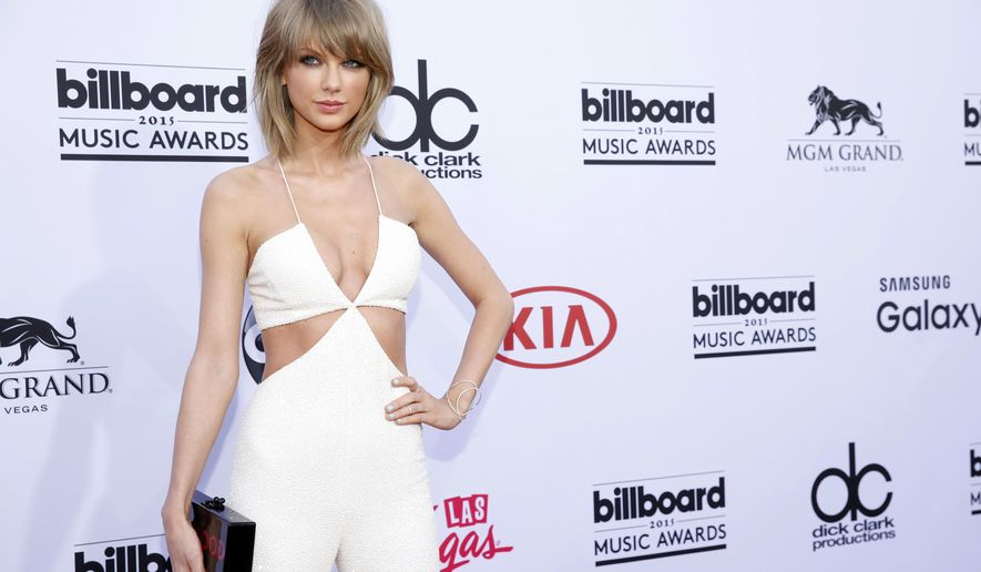 Taylor Swift arrives at the Billboard Music Awards at the MGM Grand Garden Arena on Sunday, May 17, 2015, in Las Vegas. (Photo by Eric Jamison/Invision/AP)