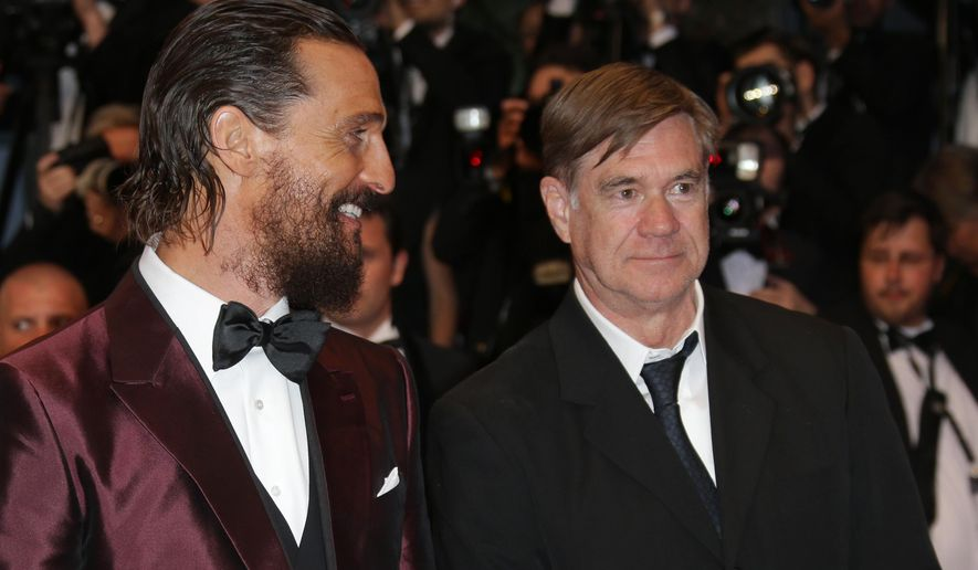 From right Gus Van Sant and Matthew McConaughey pose for photographers upon arrival for the screening of the film The Sea of Trees at the 68th international film festival, Cannes, southern France, Saturday, May 16, 2015. (Photo by Joel Ryan/Invision/AP)
