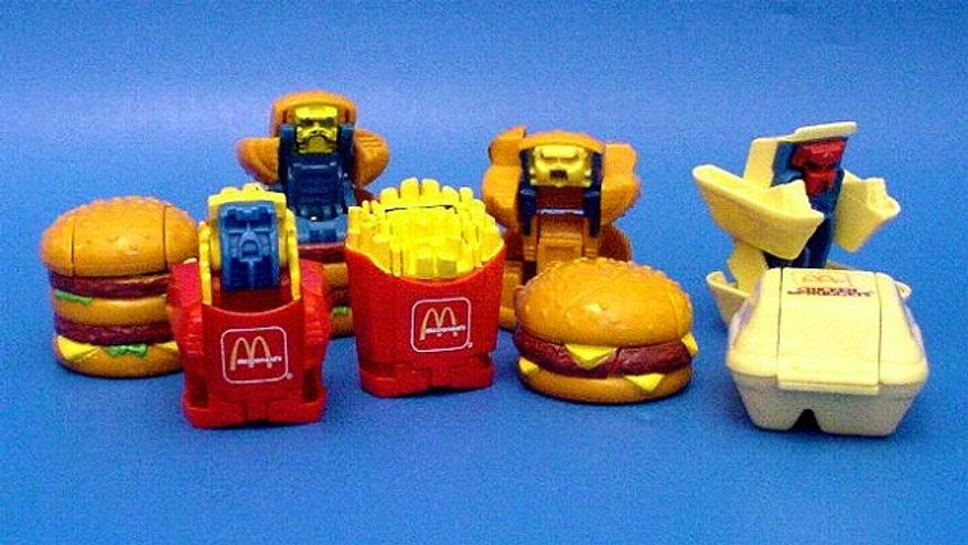 "Happy Meal Toys - In California, Santa Clara and San Francisco Counties passed separate ordinances in 2010,  preventing restaurants from offering toys to children in conjunction with ""unhealthful food and beverage choices.""  This included meals of 600 calories or more that didn't include enough fruits and vegetables. The so-called Happy Meal ordinance was easily passed by the San Francisco Board of Supervisors in an 8-3 vote. McDonald's responded by announcing that they would start charging 10-cents for toys in Happy Meals."