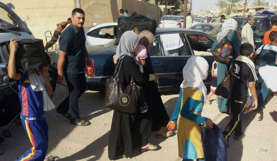 More than 140,000 Iraqi civilians have fled Ramadi, the capital of Iraq's Anbar province, located 70 miles west of Baghdad as Islamic State militants searched door to door for policemen and pro-government fighters and then threw their bodies in the Euphrates River in a bloody purge Monday. (Associated Press)