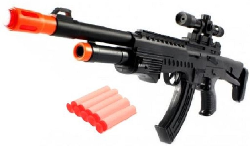 "In the Ohio House, Democratic State Rep. Bill Patmon of Cleveland introduced House Bill 119, making it illegal to manufacture, sell or display toy guns. The ban would apply to any toy gun that a ""reasonable person"" could confuse with a real one and comes with a possible $1,000 fine and up to 180 days in jail. An earlier bill was introduced in Ohio requiring some fake guns to be brightly colored. That bill hasn't moved forward and Rep. Patmon has said it doesn't go far enough."