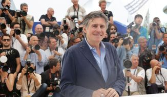 Gabriel Byrne poses for photographers during a photo call for the film Louder than Bombs, at the 68th international film festival, Cannes, southern France, Monday, May 18, 2015. (Photo by Joel Ryan/Invision/AP)