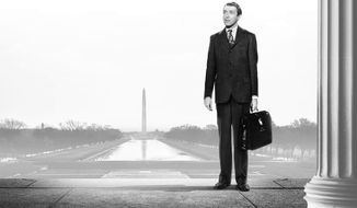 """Jimmy Stewart in the 1939 political movie by Frank Capra,  """"Mr. Smith Goes to Washington"""" (Image from Columbia Pictures, Inc)"""