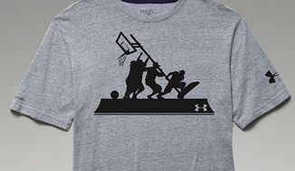 Under Armour has apologized and halted the production of a basketball shirt that parodied the iconic 1945 photograph of Marines lifting an American flag at the battle of Iwo Jima. (Under Armour via WJZ)