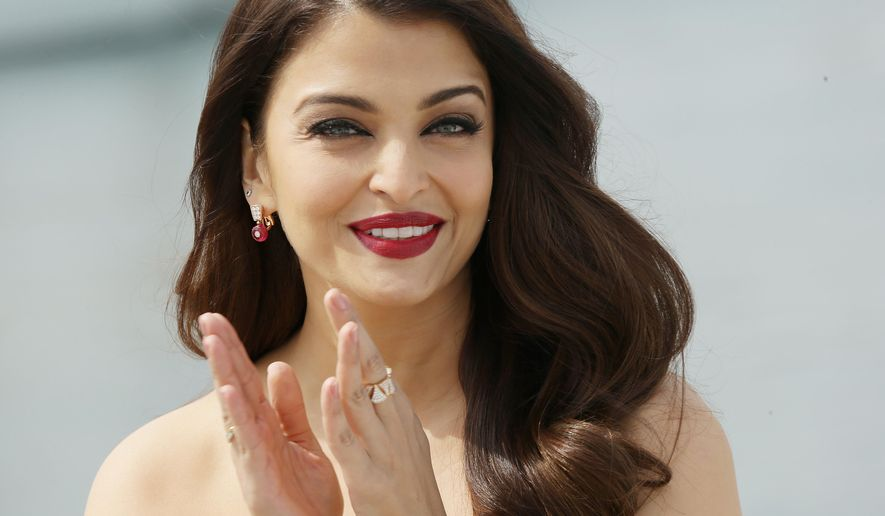 Aishwarya Rai Bachchan poses for photographs for the film Jazbaa, at the 68th international film festival, Cannes, southern France, Tuesday, May 19, 2015. (Photo by Joel Ryan/Invision/AP)