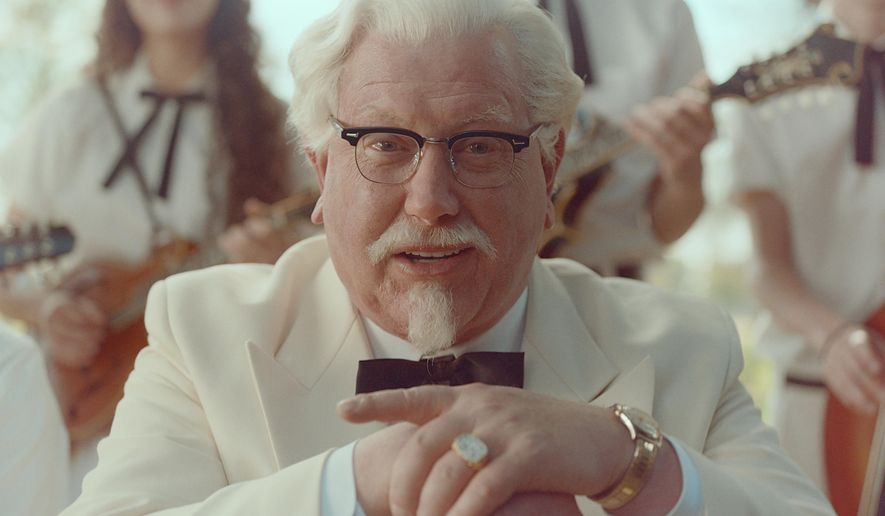 "This image provided by KFC shows ""Saturday Night Live"" alum Darrell Hammond as Colonel Sanders in a new KFC television ad. The real Col. Harland Sanders died nearly 35 years ago, and KFC hasn't featured him in TV ads for about 20 years. (AP Photo/Yum Brands)"
