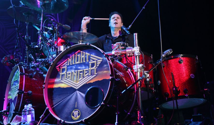Kelly Keagy of the rock band Night Ranger performs in concert during the M3 Rock Fest at Merriweather Post Pavilion on Saturday, April 26, 2014, in Columbia, Md. (Photo by Owen Sweeney/Invision/AP)