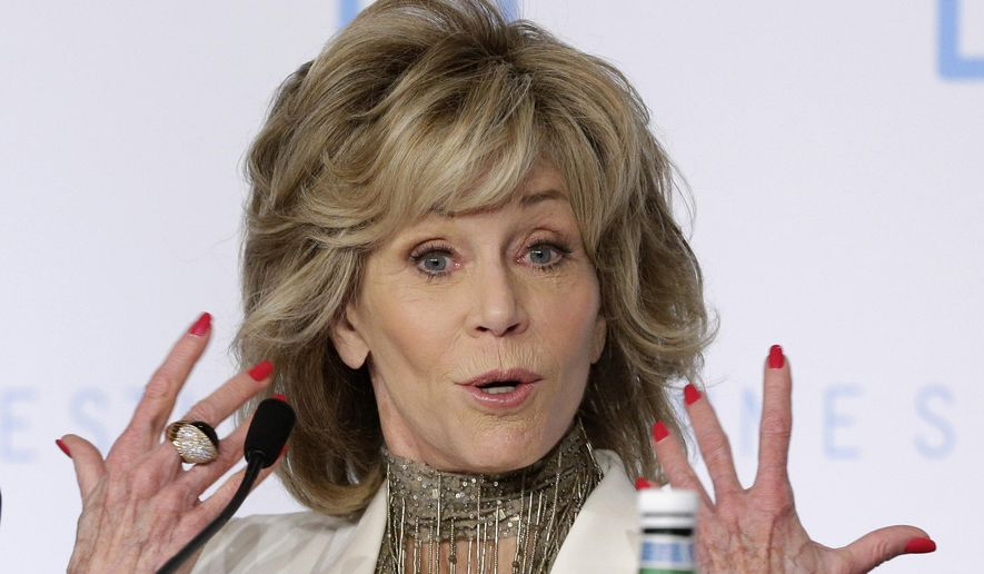 Actress Jane Fonda poses for photographers during a press conference for the film Youth at the 68th international film festival, Cannes, southern France, Wednesday, May 20, 2015. (AP Photo/Thibault Camus) ** FILE **