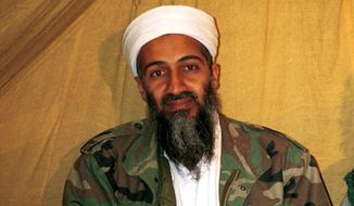 ****COPYRIGHT CLAIM****FILE - This is an undated file photo of al Qaeda leader Osama bin Laden, in Afghanistan. Say you're sorry. That's what the Pakistani government says it wants from the United States in order to jump-start a number of initiatives between the two countries that would help the hunt for al Qaeda in Pakistan and smooth the end of the war in Afghanistan. Pakistan wants the U.S. to apologize for a border incident in November 2011 in which the U.S. killed 24 Pakistani troops in an airstrike. The Pakistanis have put the apology at the top of a long list of demands to address what they see as insults to national pride and sovereignty _ from the Navy SEAL raid onto Pakistani territory last year that killed Osama bin Laden to the steady U.S. drone strikes on Pakistani territory. (AP Photo, File)