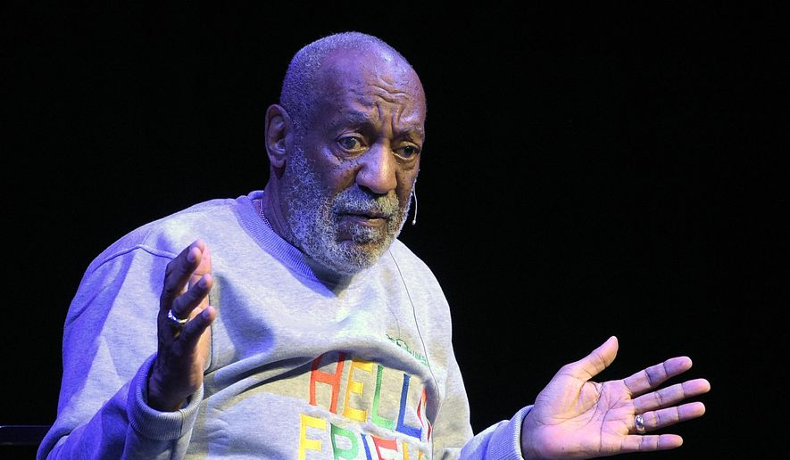 In this Friday, Nov. 21, 2014, file photo, Bill Cosby performs during a show at the Maxwell C. King Center for the Performing Arts in Melbourne, Fla. (AP Photo/Phelan M. Ebenhack, File)